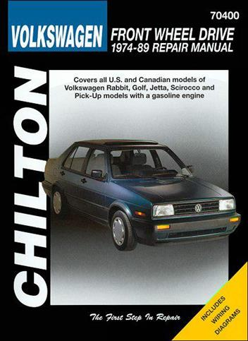 Volkswagen Front Wheel Drive 1974 - 1989 Chilton Owners Service & Repair Manual - Front Cover