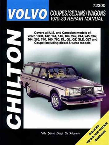 Volvo Coupes / Sedans / Wagons 1970 - 1989 - Front Cover