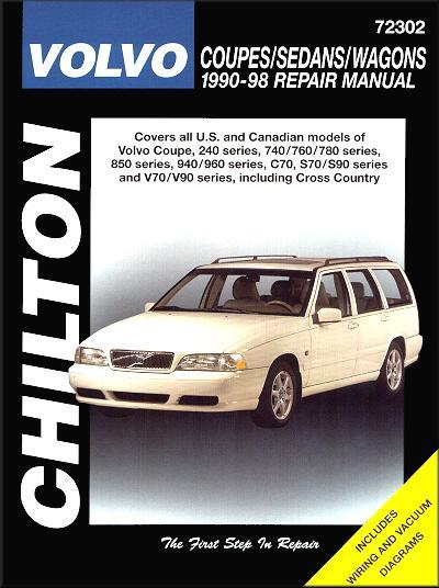 Volvo Coupes, Sedans & Wagons 1990 - 1998 - Front Cover