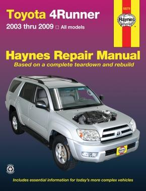 Toyota 4Runner 2003 - 2009 Haynes Owners Service & Repair Manual