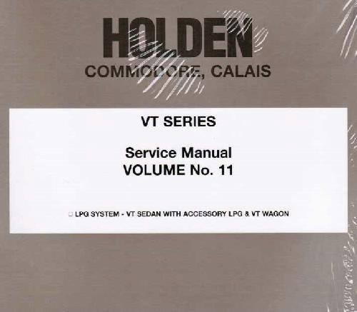 Holden Commodore/Calais VT 1997 Service Manual: Volume 11 - Front Cover
