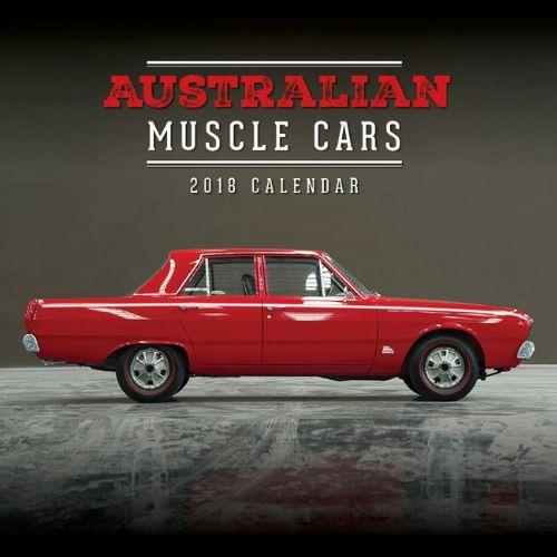 Australian Muscle Cars 2018 Calendar - Front Cover