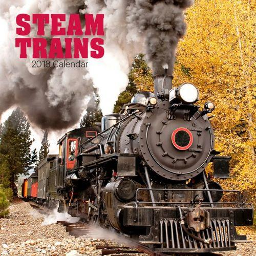 Steam Trains 2018 Calendar - Front Cover