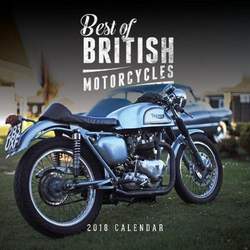 Best of British Motorcycles 2018 Calendar - Front Cover