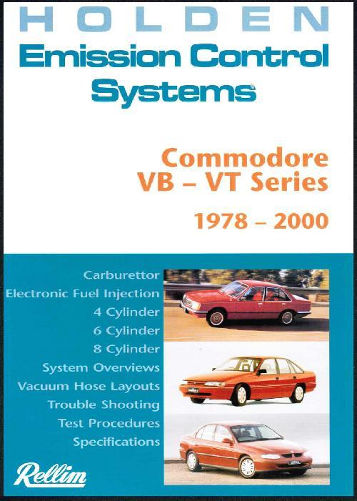 Rellim Holden Commodore VB - VT Series 1978 - 2000 Emission Control Systems - Front Cover