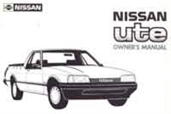 Nissan Ute 4.1 Litre Engined Range March/1988 Owners Handbook