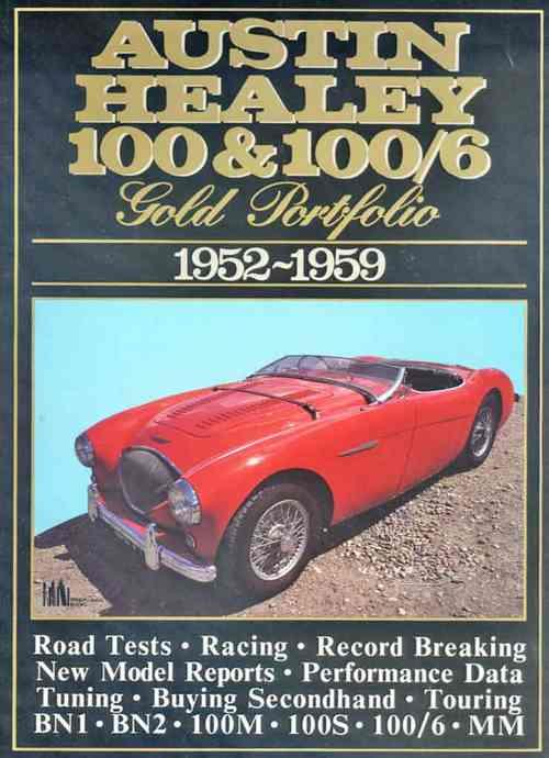 Austin-Healey 100 & 100/6 Gold Portfolio 1952 - 1959 - Front Cover