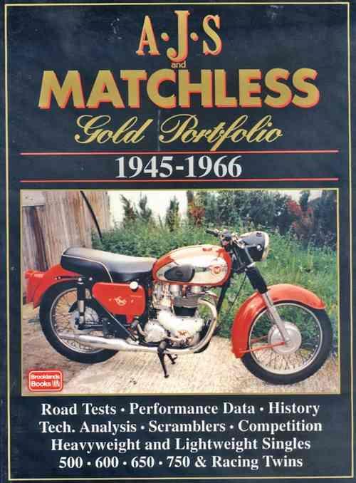 AJS & Matchless Gold Portfolio 1945 - 1966 - Front Cover