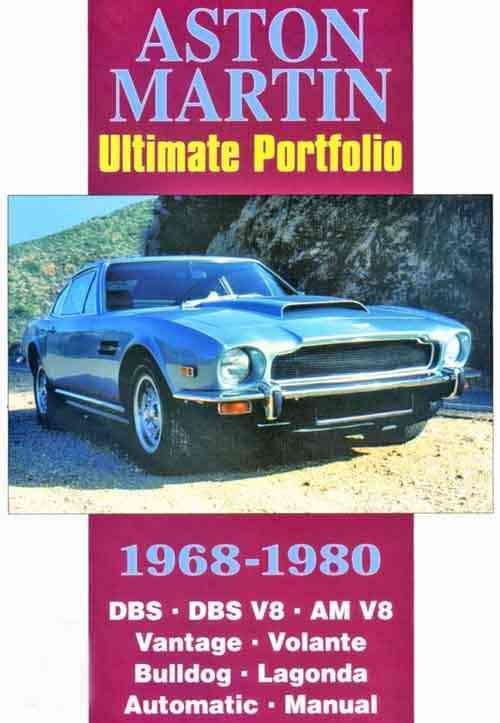 Aston Martin Ultimate Portfolio 1968 - 1980 - Front Cover