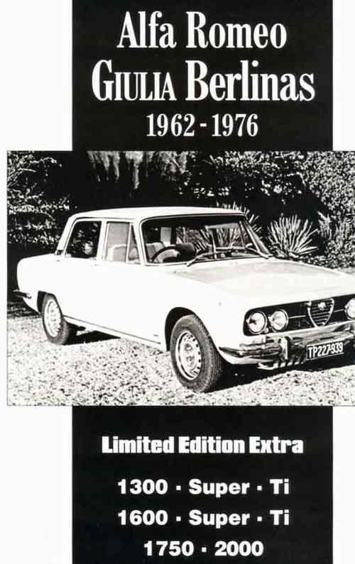 Alfa Romeo Giulia Berlinas 1962 - 1976 Limited Edition Extra - Front Cover