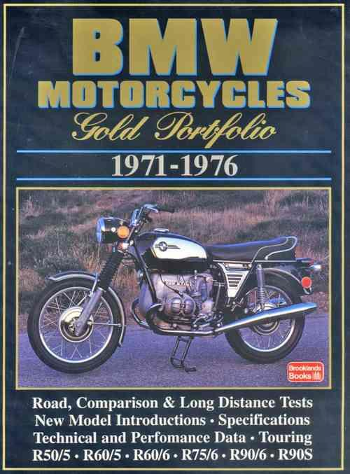 BMW Motorcycles Gold Portfolio 1971 - 1976 - Front Cover