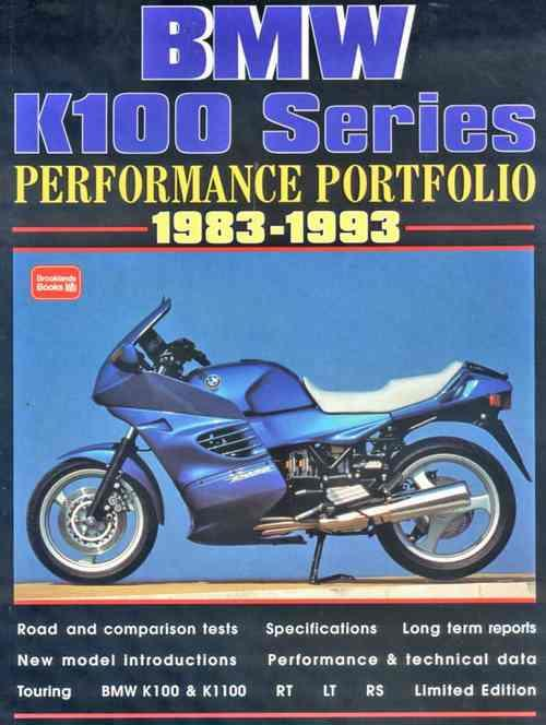 BMW K100 Series Performance Portfolio 1983 - 1993 - Front Cover