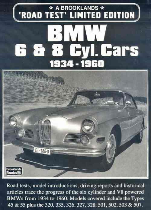 BMW 6 & 8 Cylinder Cars Limited Edition 1934 - 1960 - Front Cover