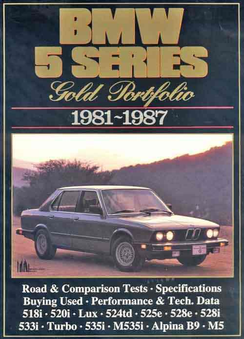BMW 5 Series Gold Portfolio 1981 - 1987 - Front Cover