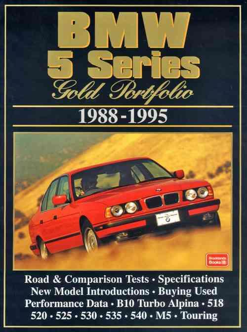 BMW 5 Series Gold Portfolio 1988 - 1995 - Front Cover