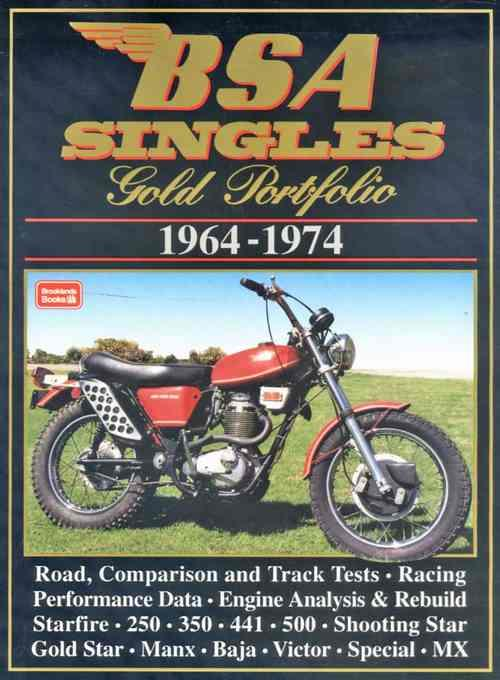 BSA Singles Gold Portfolio 1964 - 1974 - Front Cover