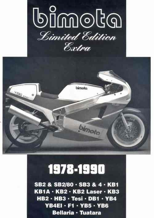 Bimota Limited Edition Extra 1978 - 1990 - Front Cover