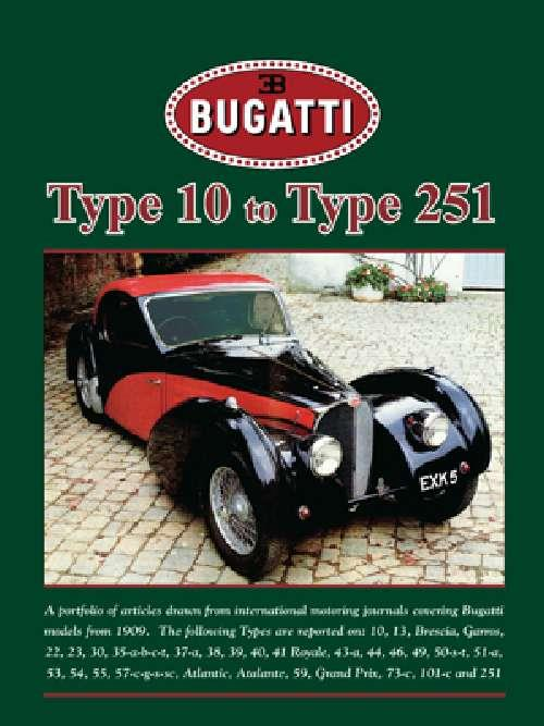 Bugatti Type 10 to Type 251 - Front Cover
