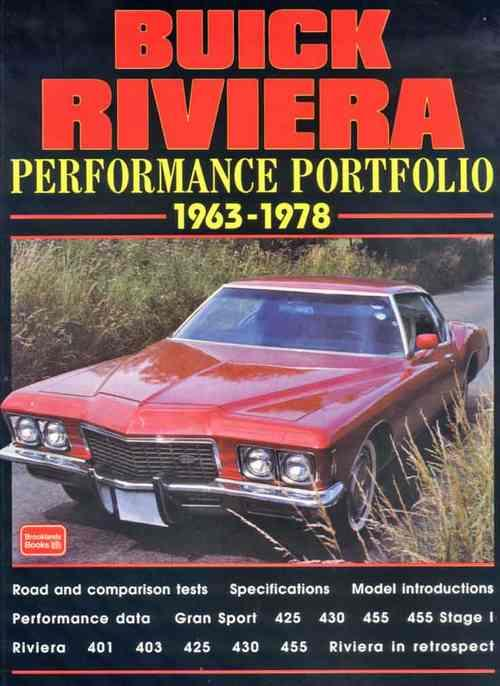 Buick Riviera Performance Portfolio 1963 - 1978 - Front Cover