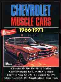 Chevrolet Muscle Cars 1966 - 1971 - Front Cover