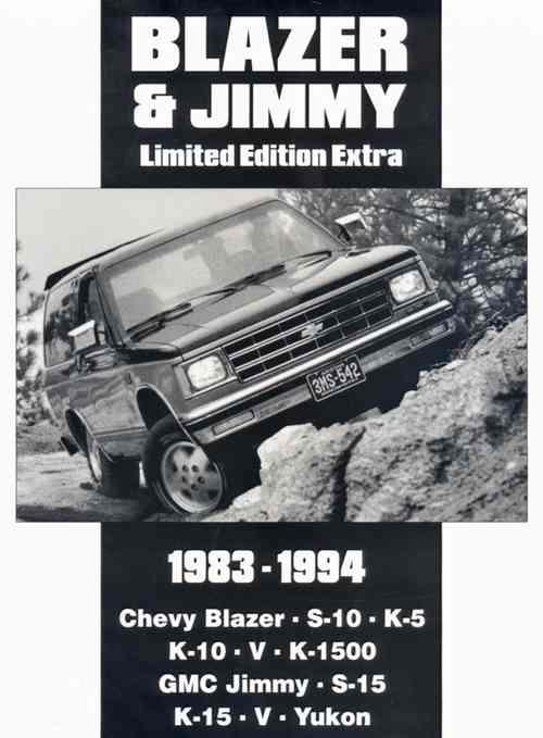 Chevrolet Blazer & Jimmy Limited Edition Extra 1983 - 1994 - Front Cover