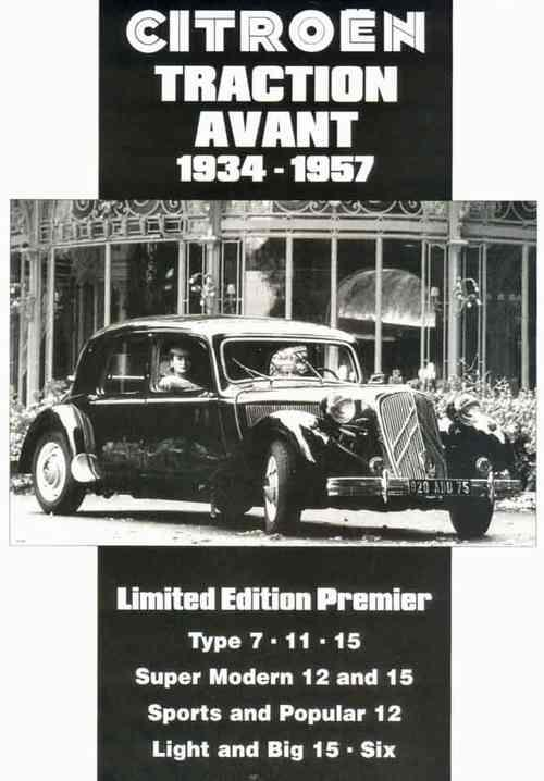 Citroen Traction Avant 1934 - 1957 Limited Edition Premier - Front Cover