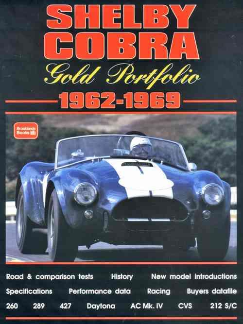 Shelby Cobra Gold Portfolio 1962 - 1969 - Front Cover
