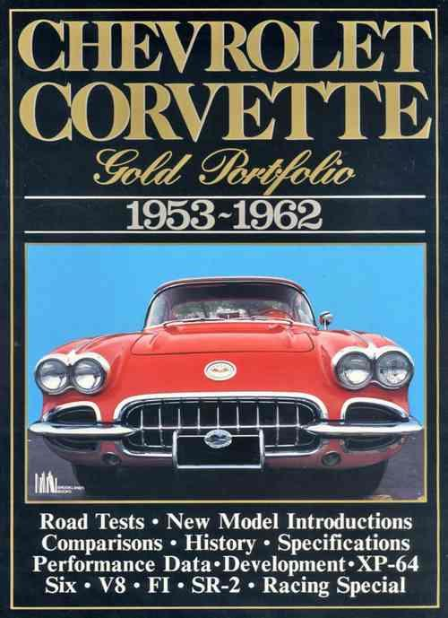 Corvette Gold Portfolio 1953 - 1962 - Front Cover