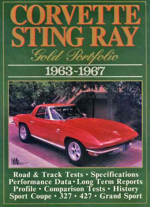 Corvette Sting Ray Gold Portfolio 1963 - 1967 - Front Cover