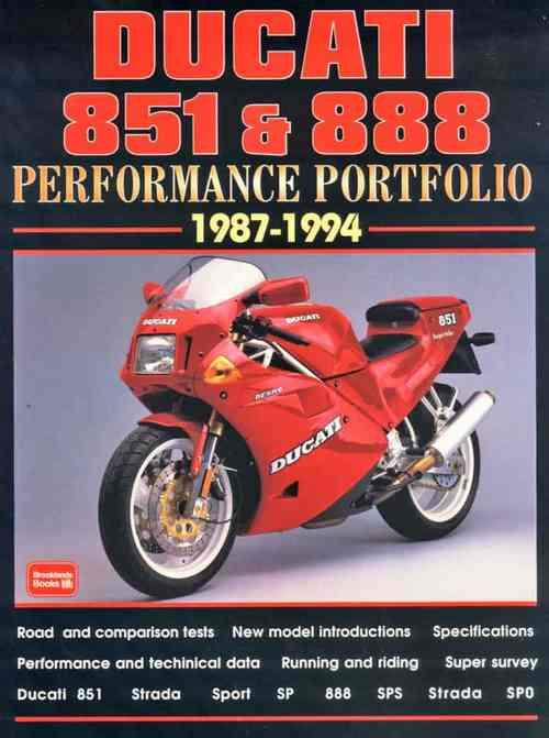 Ducati 851 & 888 Performance Portfolio 1987 - 1994 - Front Cover