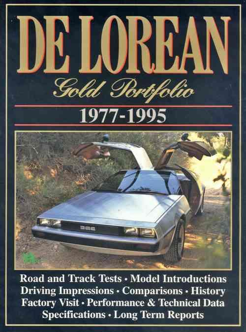 De Lorean Gold Portfolio 1977 - 1995 - Front Cover