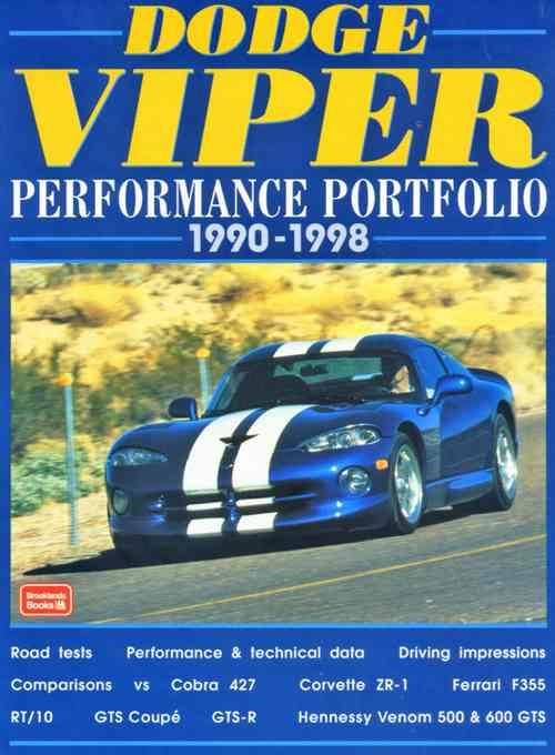 Dodge Viper Performance Portfolio 1990 - 1998 - Front Cover