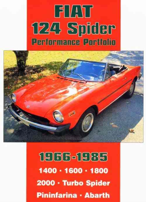Fiat 124 Spider Performance Portfolio 1966 - 1985 - Front Cover
