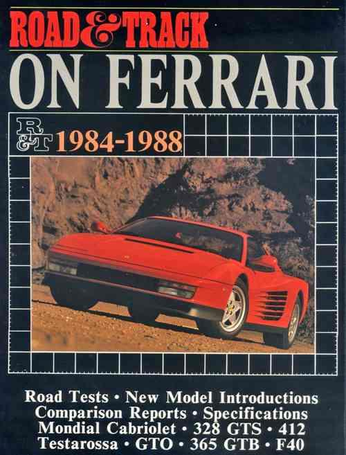 Road & Track on Ferrari 1984 - 1988 - Front Cover
