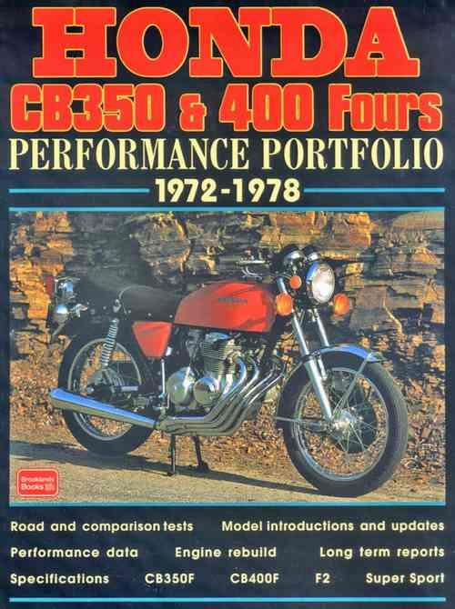 Honda CB350 & CB400 Fours Performance Portfolio 1972 - 1978 - Front Cover
