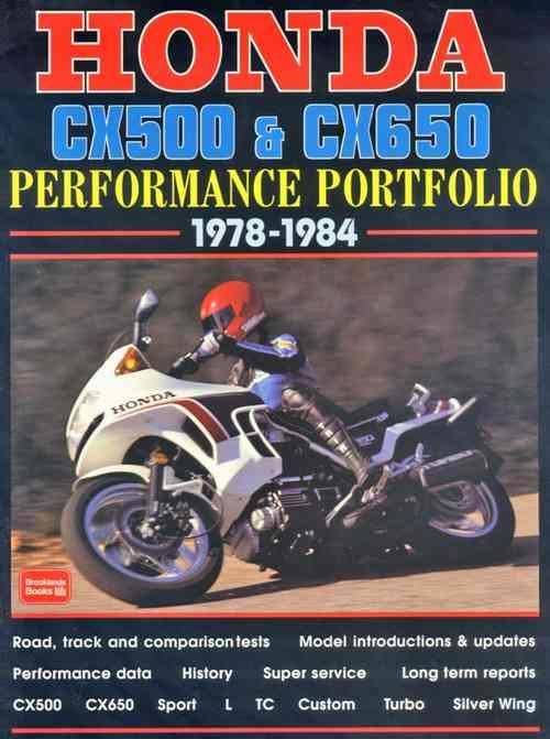 Honda CX500 & CX650 Performance Portfolio 1978 - 1984 - Front Cover