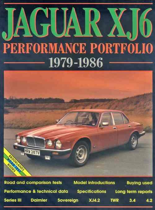 Jaguar XJ6 (Series 3) Performance Portfolio 1979 - 1986 - Front Cover