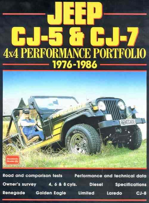 Jeep CJ5 & CJ7 4x4 Performance Portfolio 1976 - 1986 - Front Cover