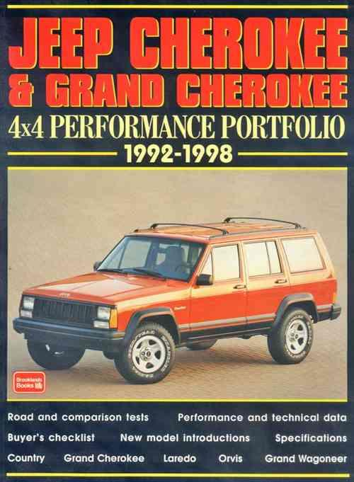 Jeep Cherokee & Grand Cherokee 4x4 Performance Portfolio 1992 - 1998 - Front Cover