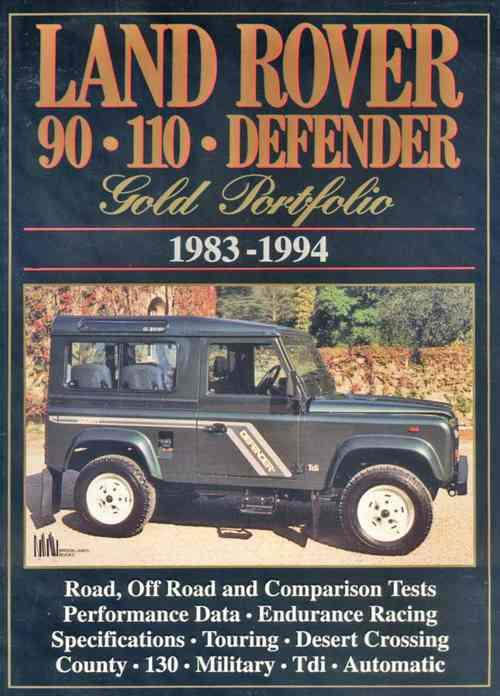 Land Rover 90 110 Defender Gold Portfolio 1983 - 1994 - Front Cover