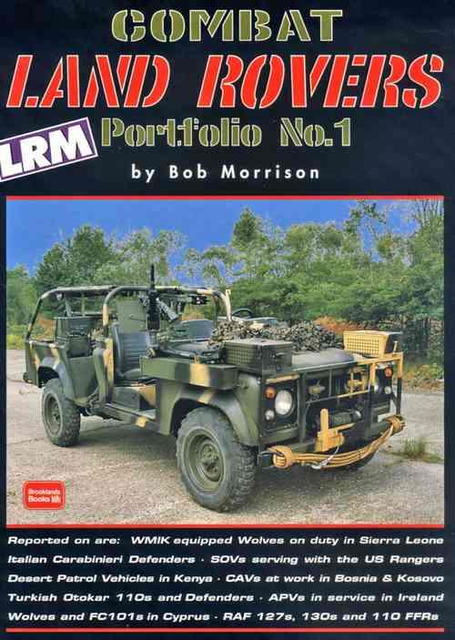 Combat Land Rovers Portfolio N0 1 - Front Cover
