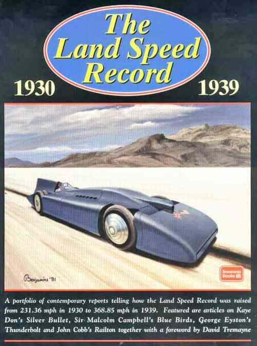 The Land Speed Record 1930 - 1939 - Front Cover