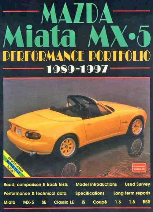 Mazda Miata MX-5 Performance Portfolio 1989 - 1997 - Front Cover
