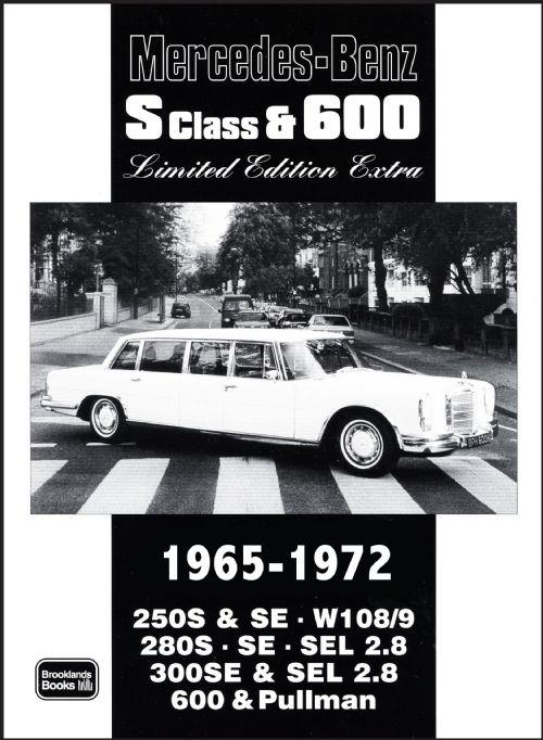 Mercedes Benz 'S' Class & 600 1965 - 1972 Limited Edition Extra - Front Cover