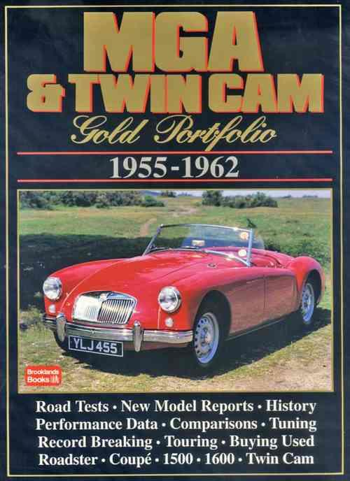 MG MGA & Twin Cam Gold Portfolio 1955 - 1962 - Front Cover