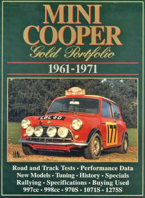 Mini Cooper Gold Portfolio 1961 - 1971 - Front Cover
