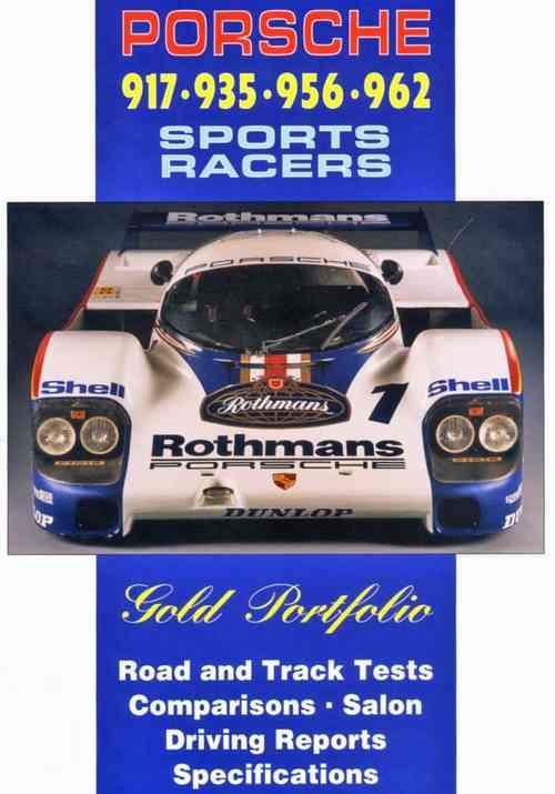 Porsche 917 - 935 - 956 - 962 Sports Racers Gold Portfolio - Front Cover