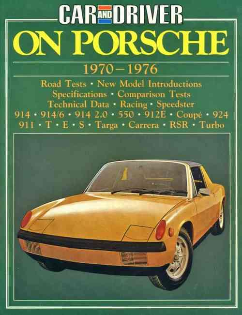 Car and Driver on Porsche 1970 - 1976 - Front Cover