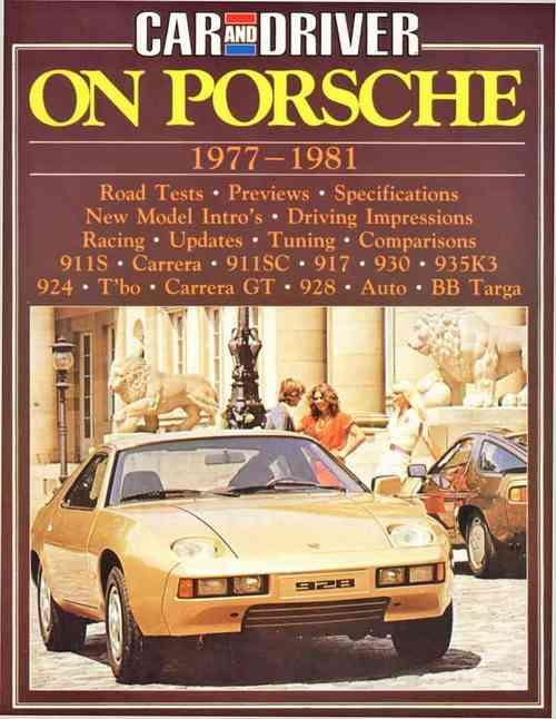 Car and Driver on Porsche 1977 - 1981 - Front Cover