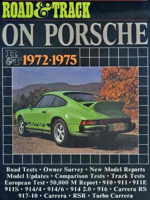 Road & Track on Porsche 1972 - 1975 - Front Cover